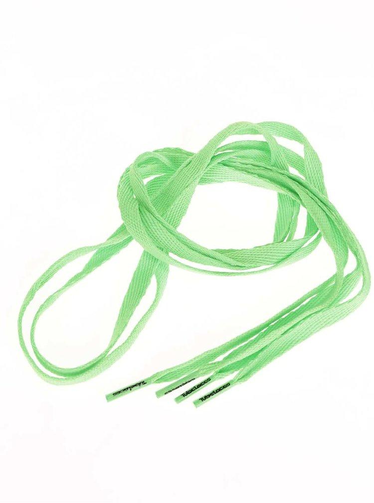 Zelené neonové tkaničky Tubelaces (90 cm)