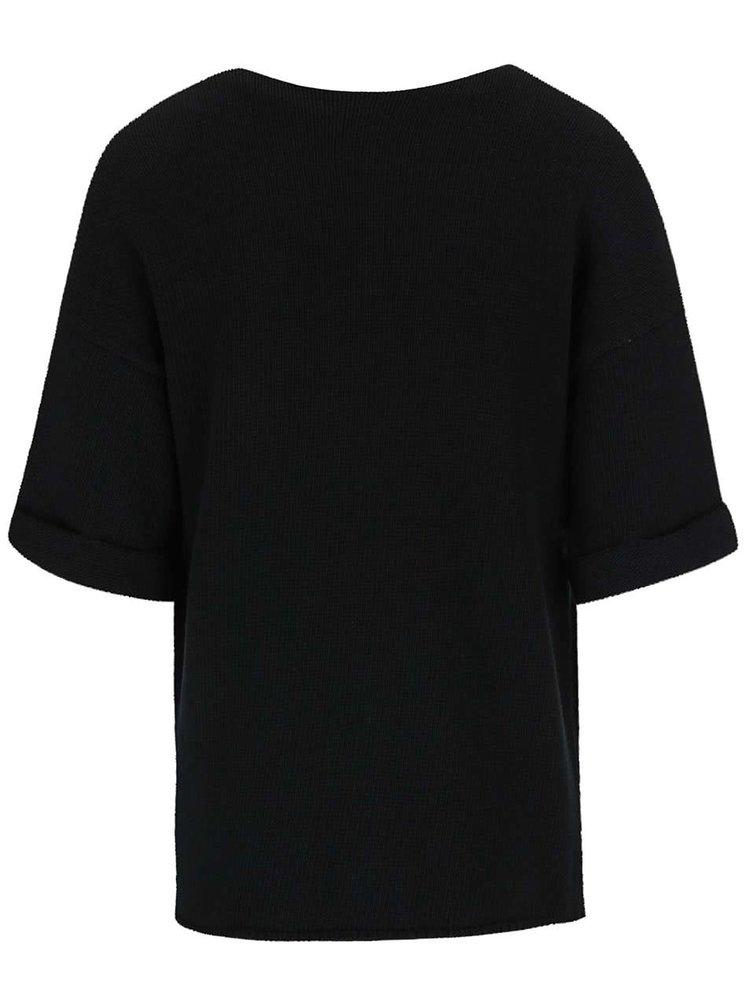 Pulover Noisy May Malin negru cu mânecă scurtă