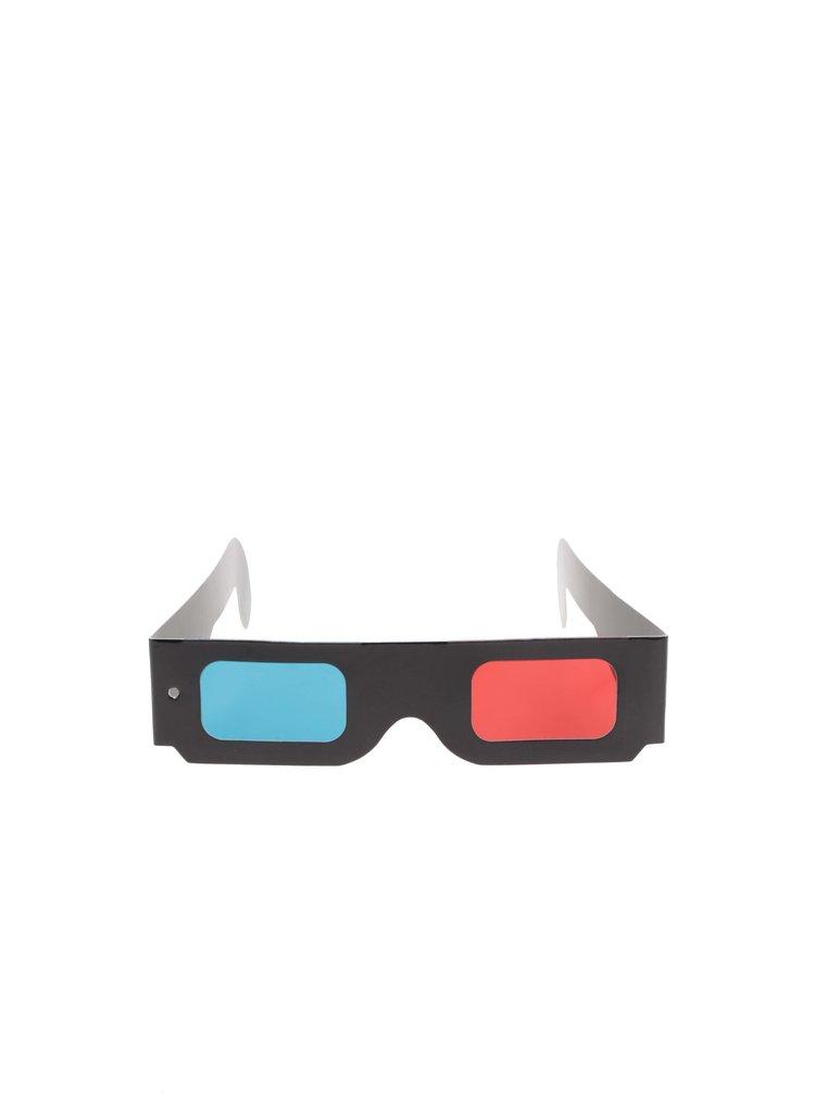Oranžovo-čierne boxerky s trojrozmernou potlačou a 3D okuliarmi Star Wars Freegun