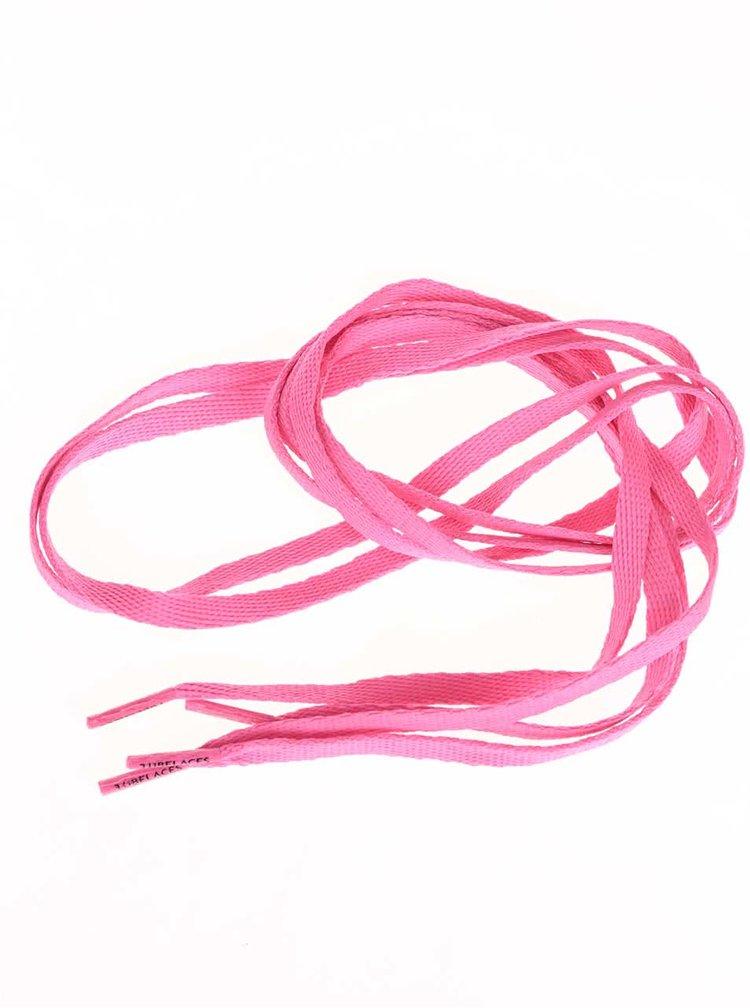 Ružové neónové šnúrky Tubelaces (120 cm)