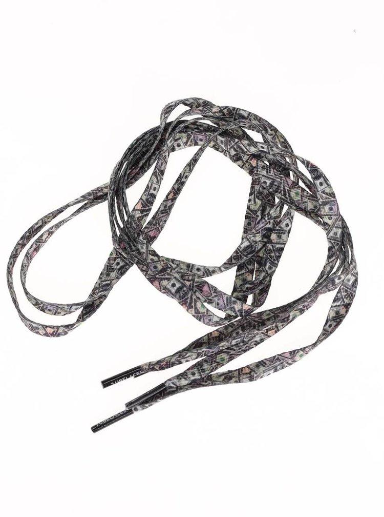 Barevné tkaničky s potiskem bankovek Tubelaces (130 cm)