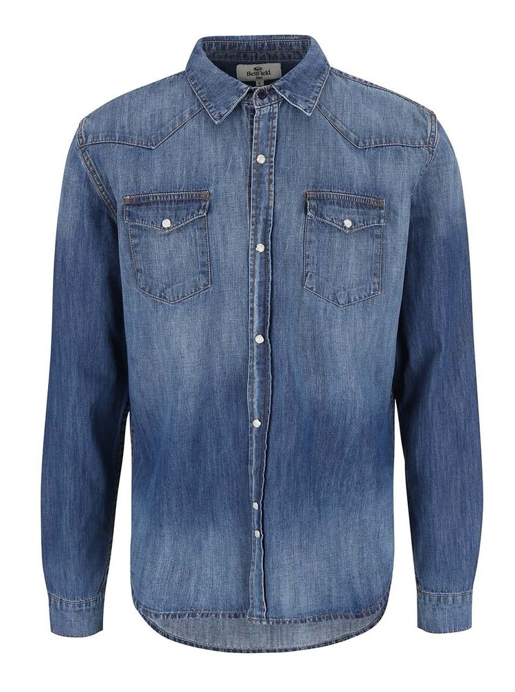 Bellfield Codeine Blue Denim Shirt