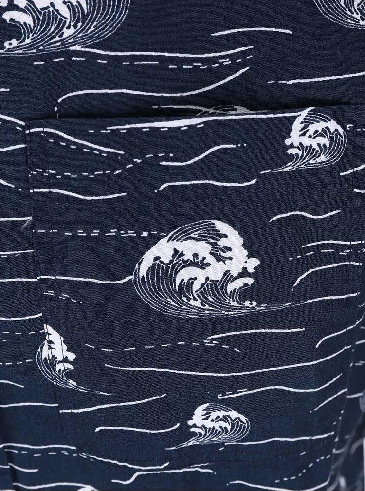 Tmavomodrá vzorovaná košeľa Bellfield Brava