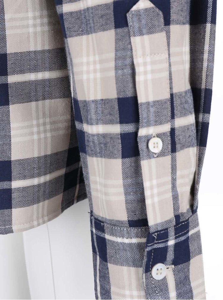 Bellfield Barrow Beige and Blue Chequered Shirt