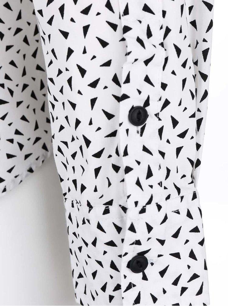 Černo-bílá košile s trojúhelníky Bellfield Idols