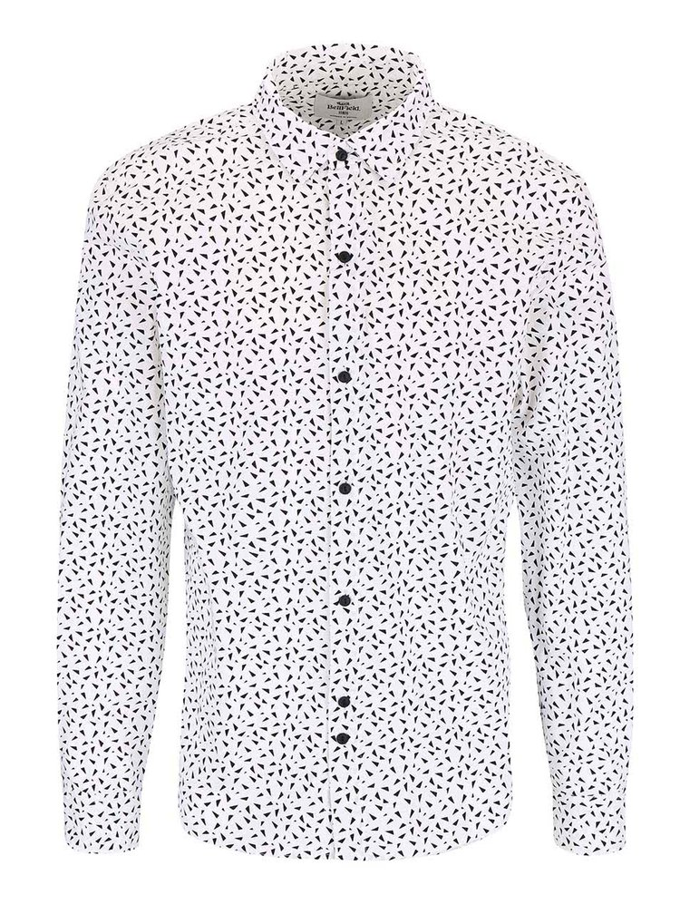 Bellfield Idols Black and White Triangle Patterned Shirt