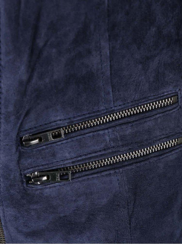 Jachetă bleumarin ONLY Justine din piele