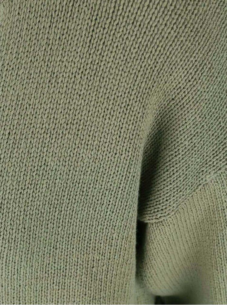 Pulover Noisy May Malin kaki cu mânecă scurtă