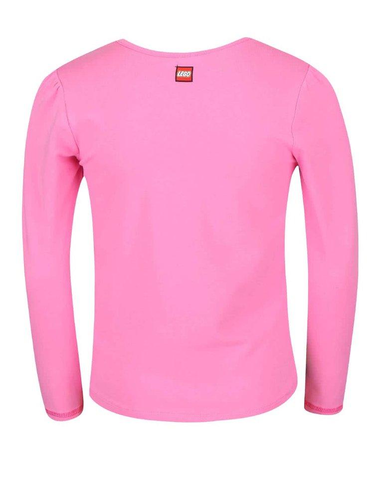 Ružové dievčenské tričko s farebnou potlačou LEGO wear Tamara