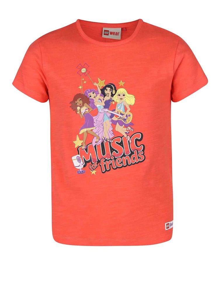 Oranžové dievčenské tričko s krátkym rukávom LEGO Wear Tamara