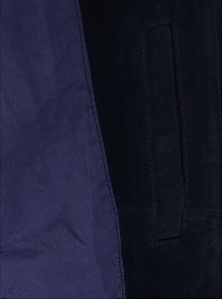 Bellfield Tupello Navy Blue Suede Leather Jacket