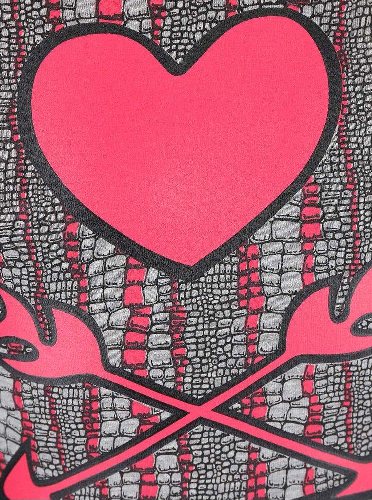 Rochie LoveStation 22 Kyra gri cu roz