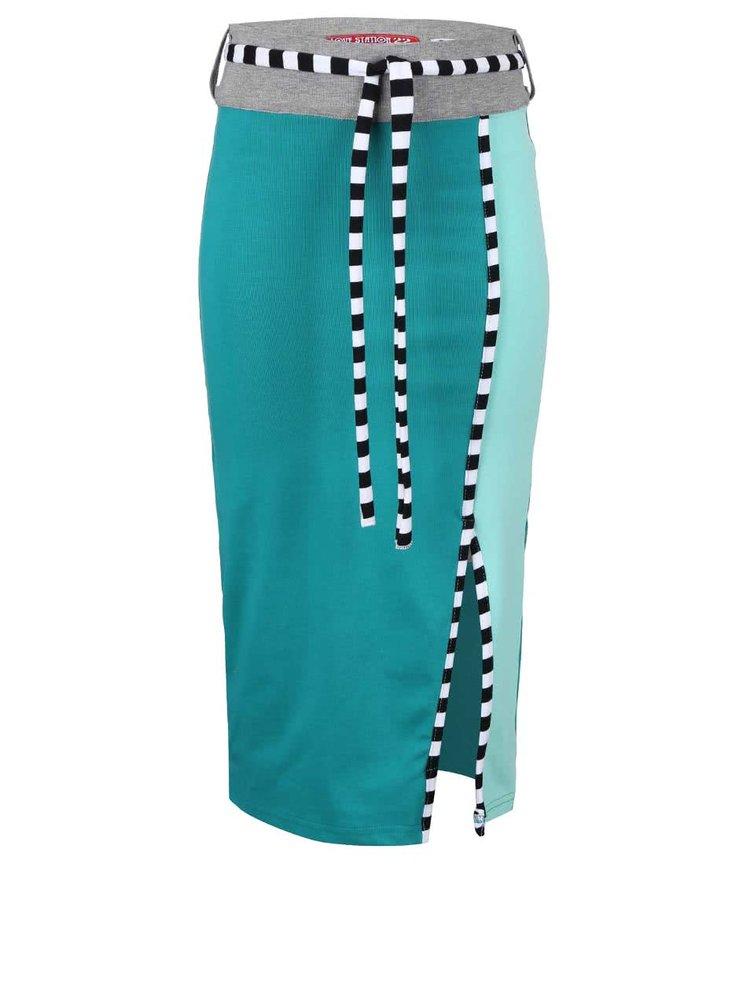 Tyrkysová dievčenská sukňa LoveStation 22 Floortje