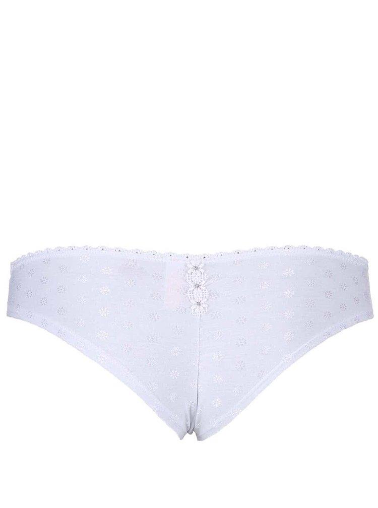 Chiloți Lisca Adore de culoare albă cu model