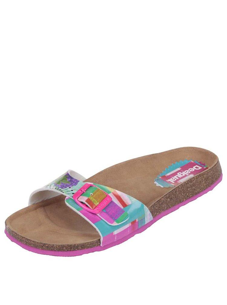 Barevné vzorované pantofle Desigual