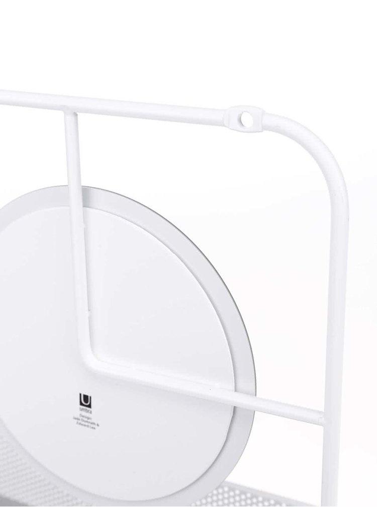Bílý organizér na dveře se zrcadlem Umbra Estetique