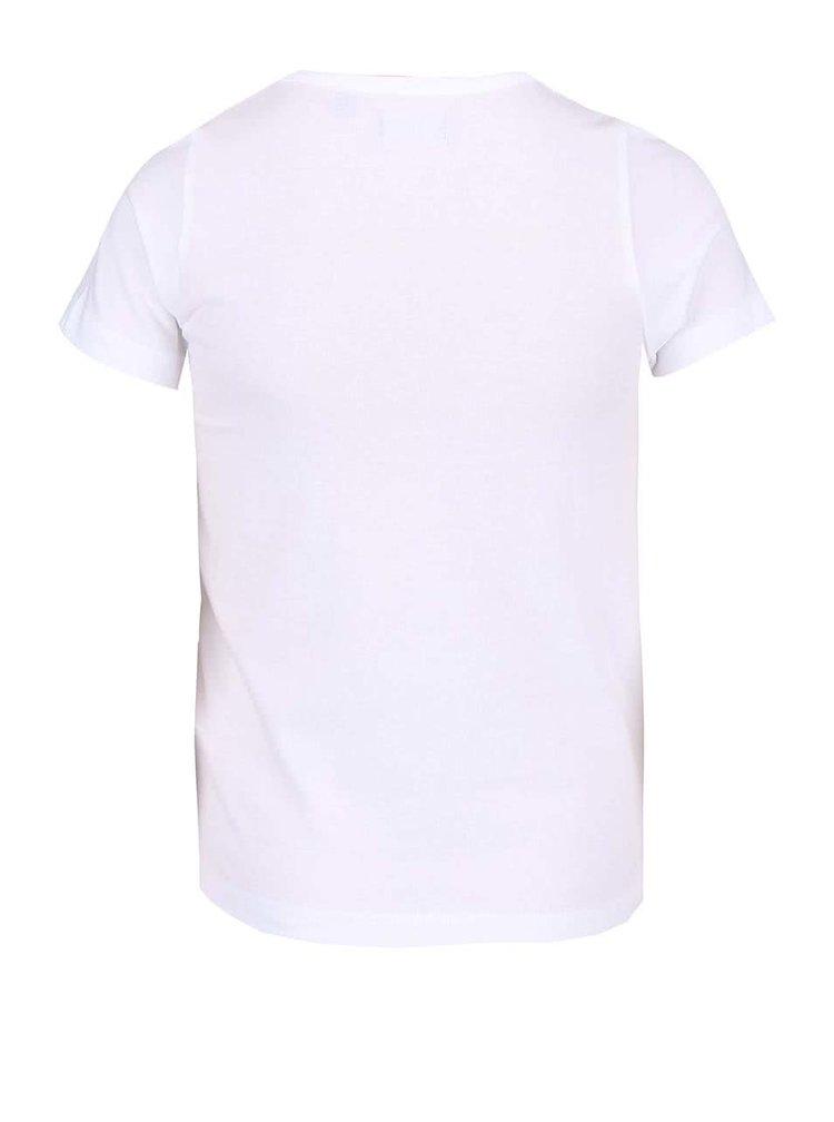 Bílé holčičí tričko s potiskem plameňáků Blue Seven