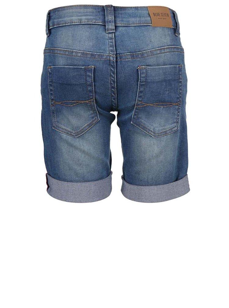 Tmavomodré chlapčenské rifľové kraťasy Blue Seven