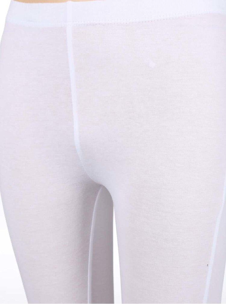 Biele dievčenské legíny s kvietkami na nohaviciach Blue Seven
