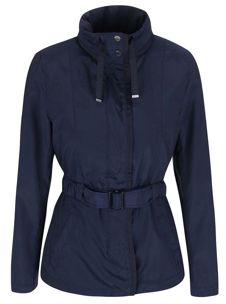 Modrý kabát s páskem Geox