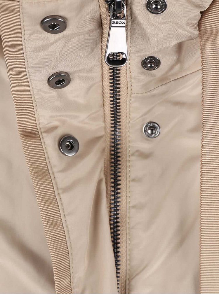Jachetă Geox bej cu cordon