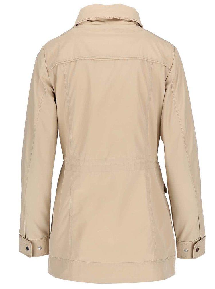 Béžový dámsky sťahovací kabát Geox