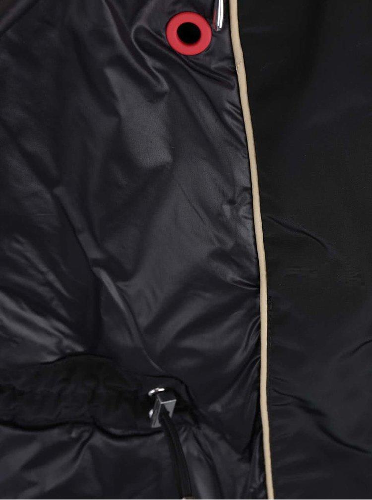 Čierny dámsky sťahovací kabát Geox