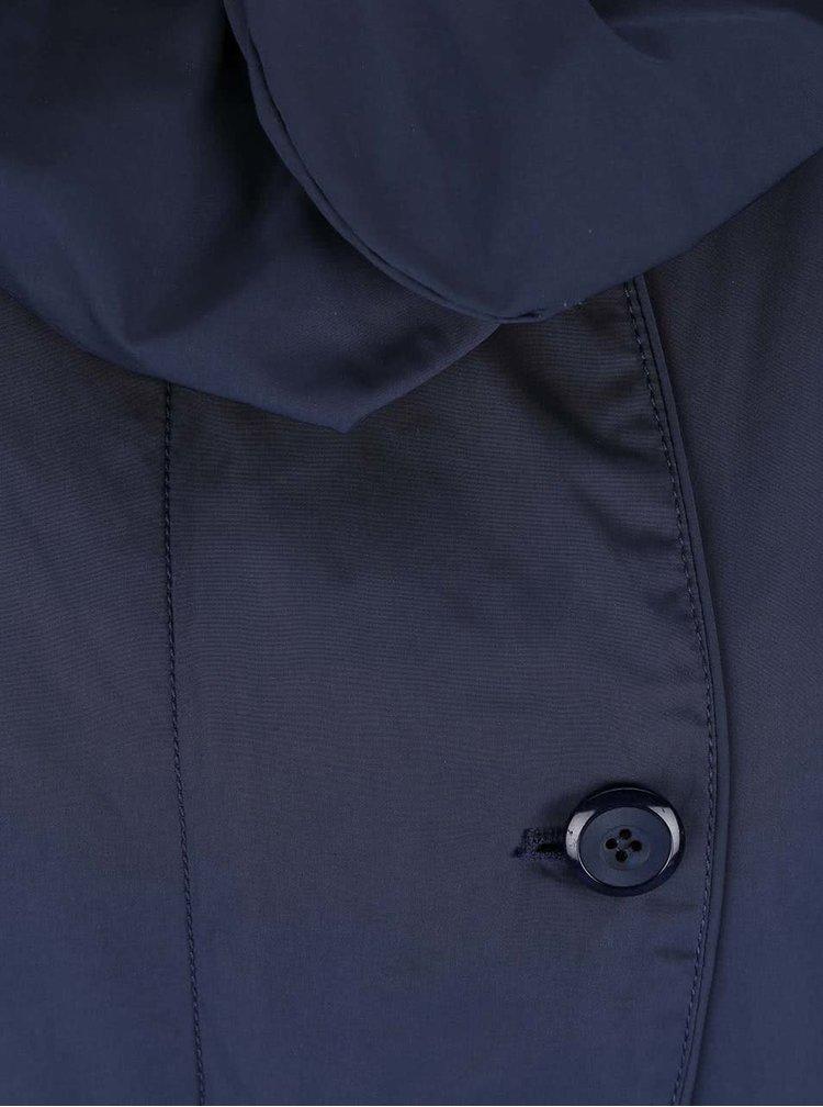 Modrý dámský kabát s vysokým límcem Geox