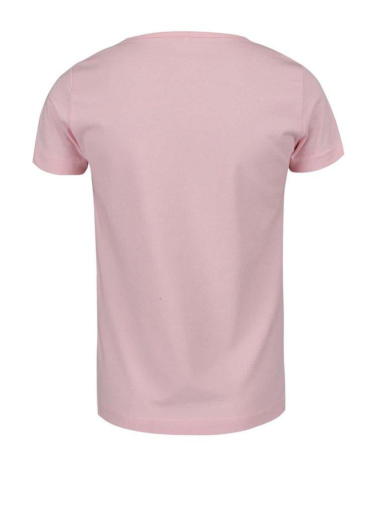 Růžové holčičí triko s potiskem name it Fabibi