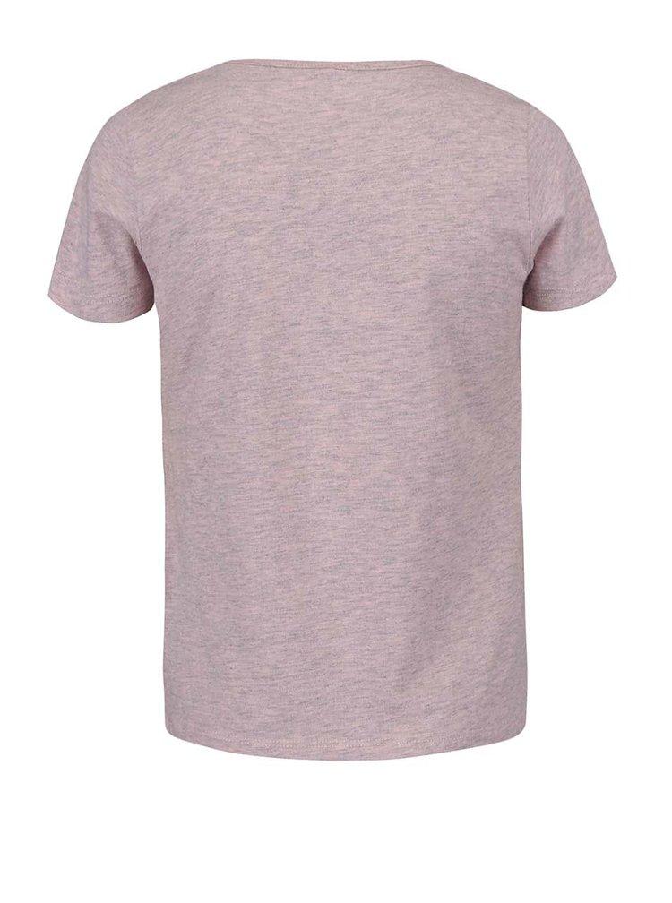 Růžové žíhané holčičí tričko s dezerty name it Fabob