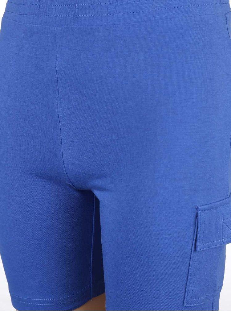 Modré detské teplákové kraťasy Blue Seven