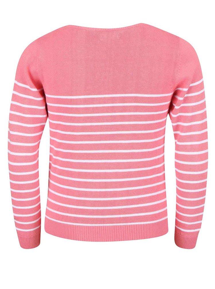 Ružový dievčenský sveter s hviezdičkami Blue Seven