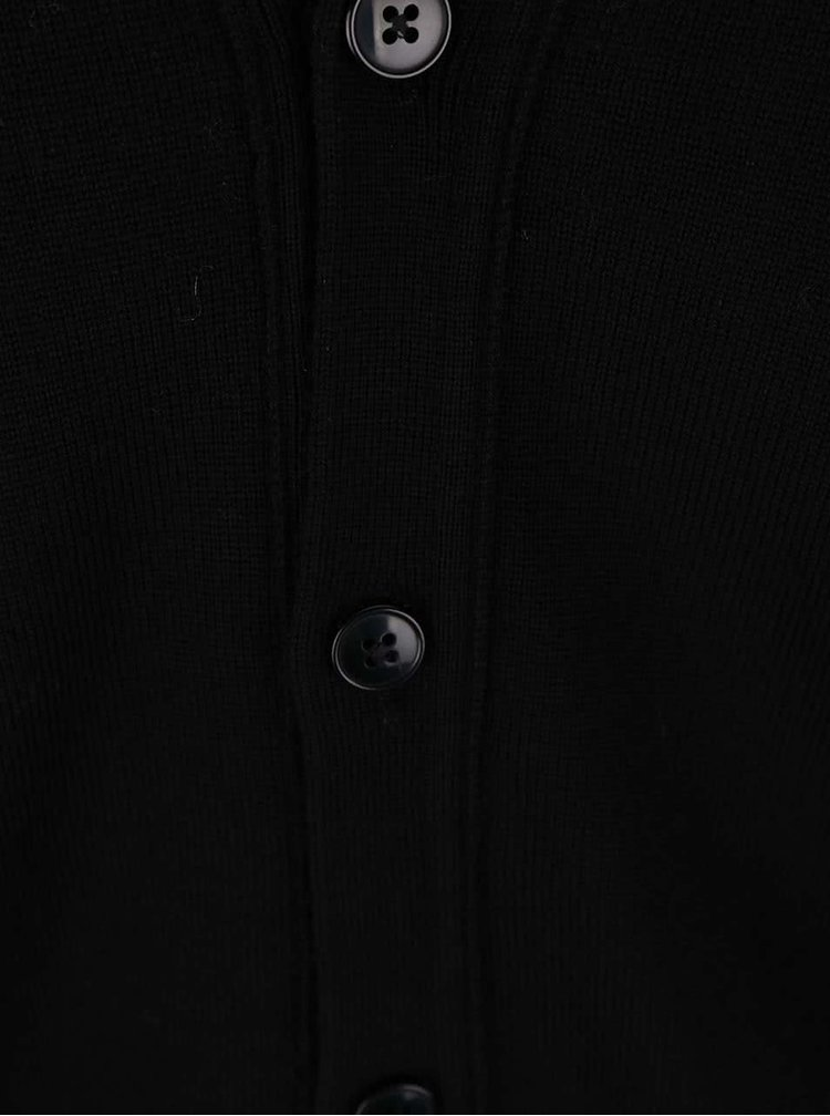 Cardigan J.Lindeberg din lână merino, negru
