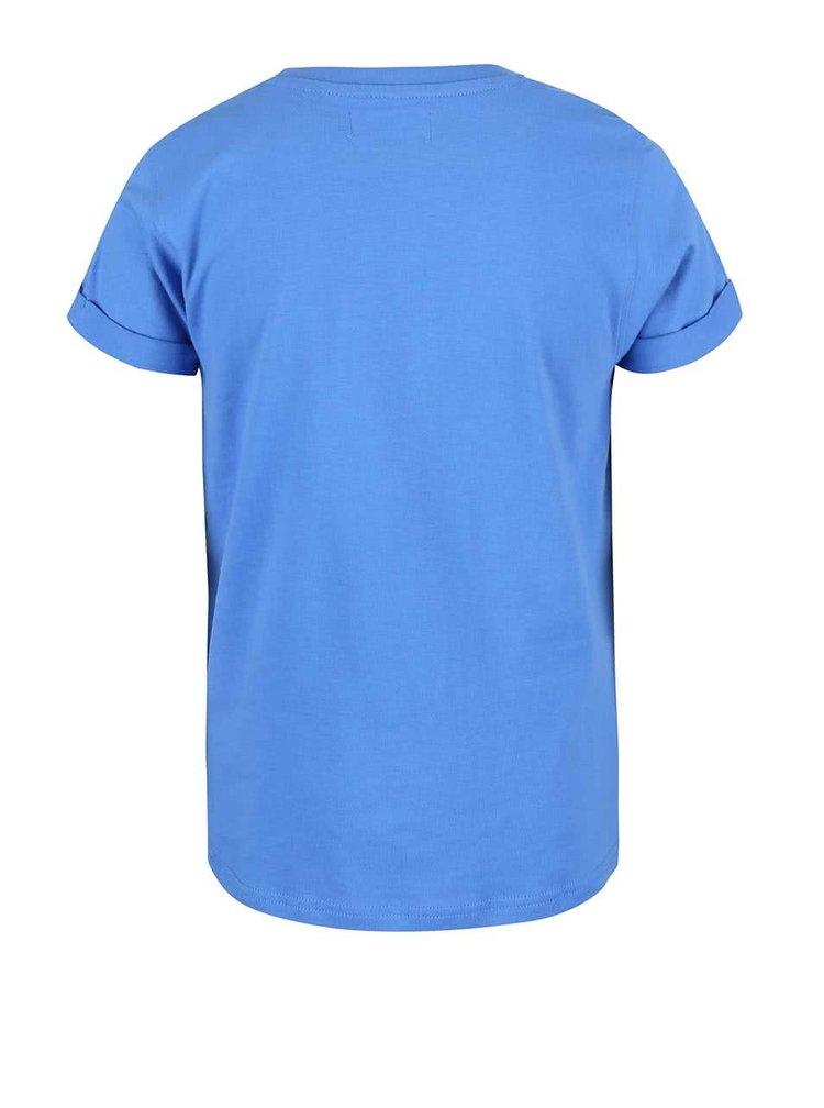 Modré klučičí tričko s potiskem s motivy surfování Blue Seven