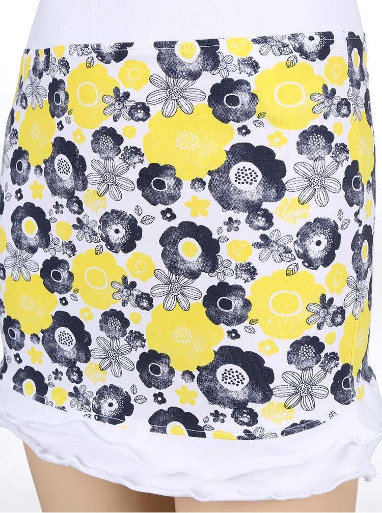 Žltá dievčenská sukňa so vzorom Blue Seven