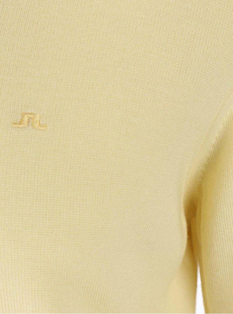 Žlutý svetr z merino vlny J.Lindeberg Lyman