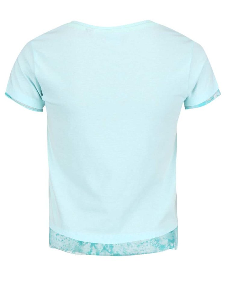 Tricou Blue Seven albastru deschis cu imprimeu