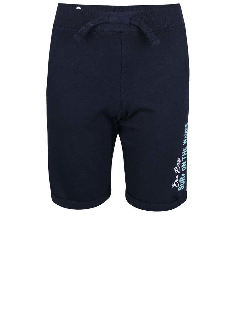 Tmavě modré dětské teplákové kraťasy Blue Seven