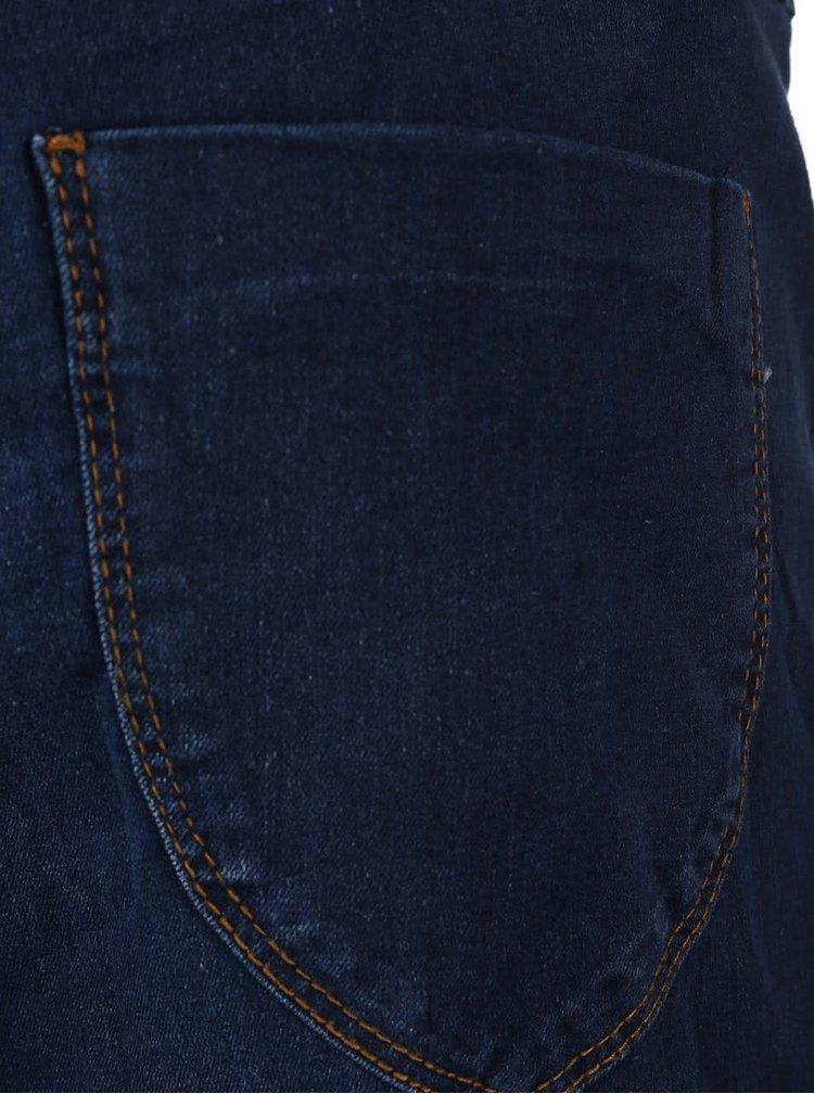 Blugi albastru închis Dorothy Perkins Curve cu aspect ușor prespălat