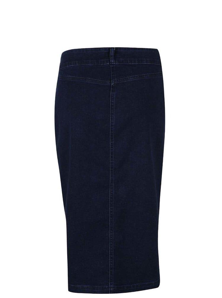 Modrá denim knoflíková sukně Dorothy Perkins