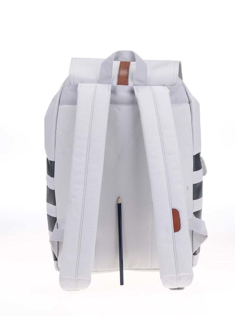 Šedý dámský batoh s koženými přezkami Herschel Dawson
