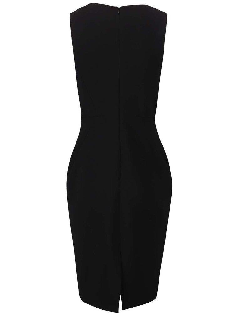 Čierne šaty so zipsom na chrbte Dorothy Perkins