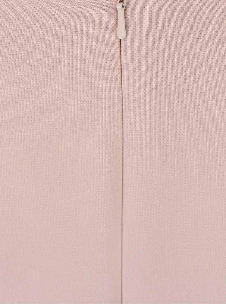 Svetloružové šaty so zipsom na chrbte Dorothy Perkins
