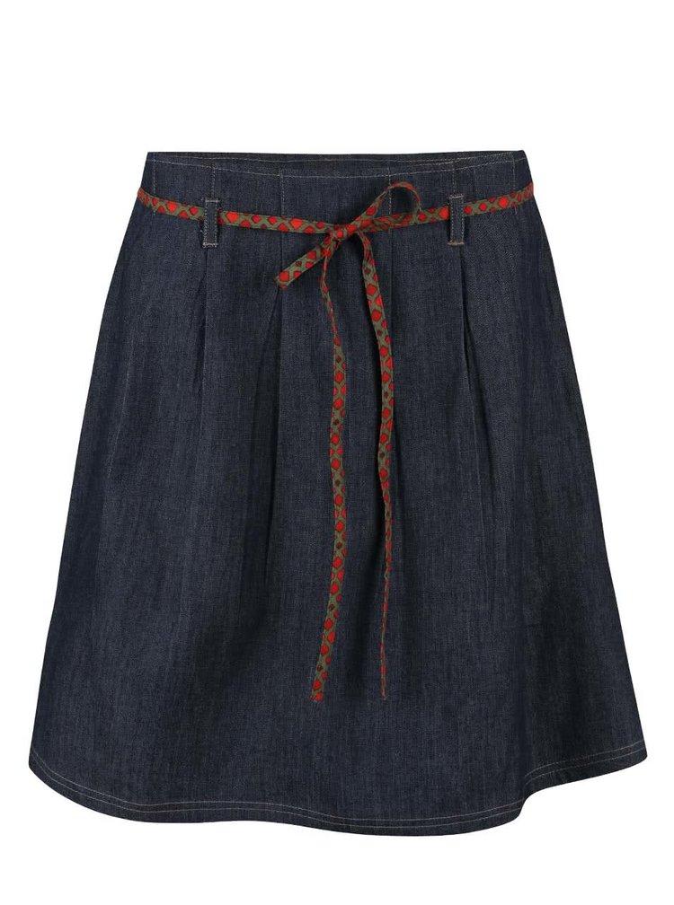 Modrá sukňa s červeno-kaki mašľou Tranquillo Tatum