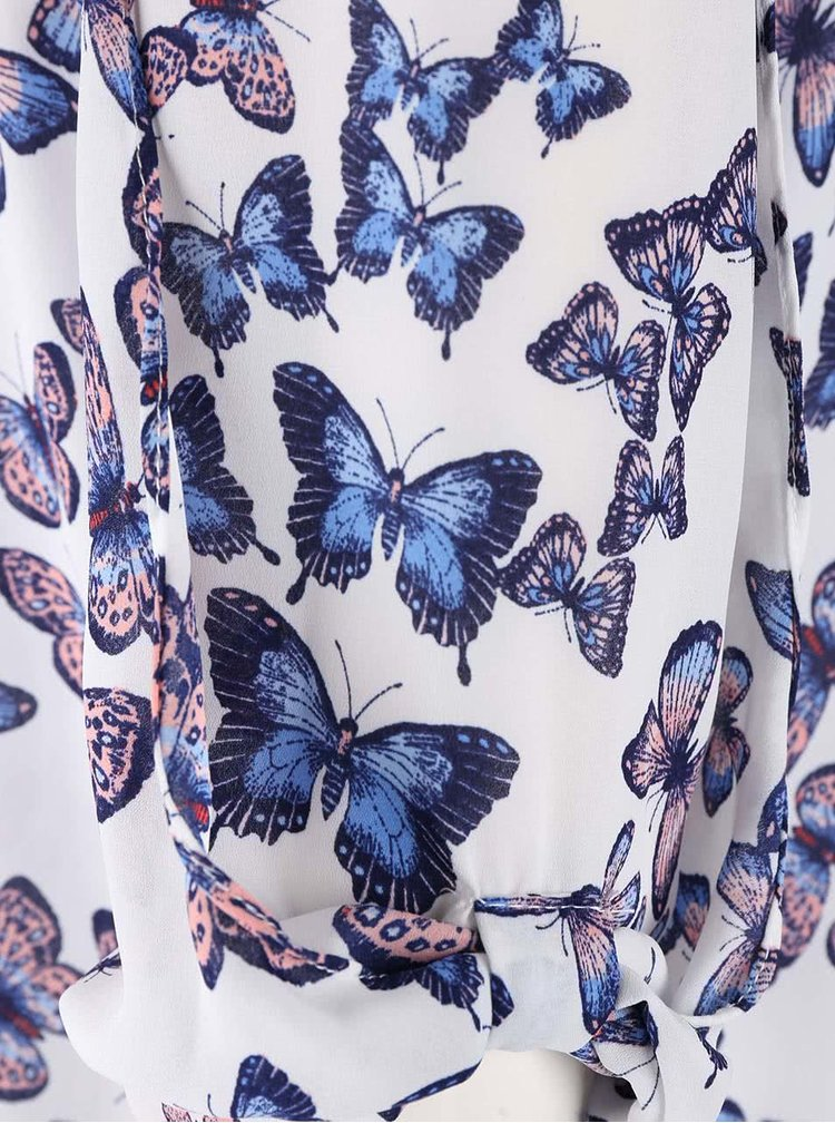 Bluza Dorothy Perkins alba cu fluturi