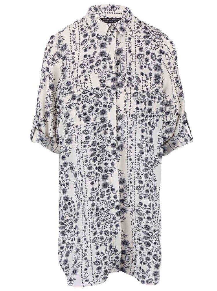 Bluză cu imprimeu Dorothy Perkins crem