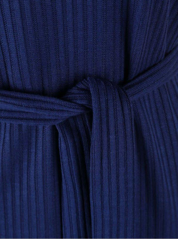 Top Dorothy Perkins albastru, cu cordon în talie