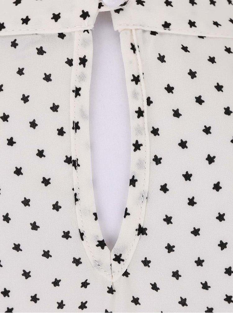 Krémová blúzka s potlačou hviezd Dorothy Perkins Petite