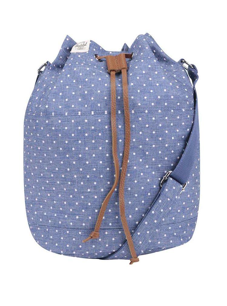 Modrá crossbody kabelka s puntíky Herschel Carlow
