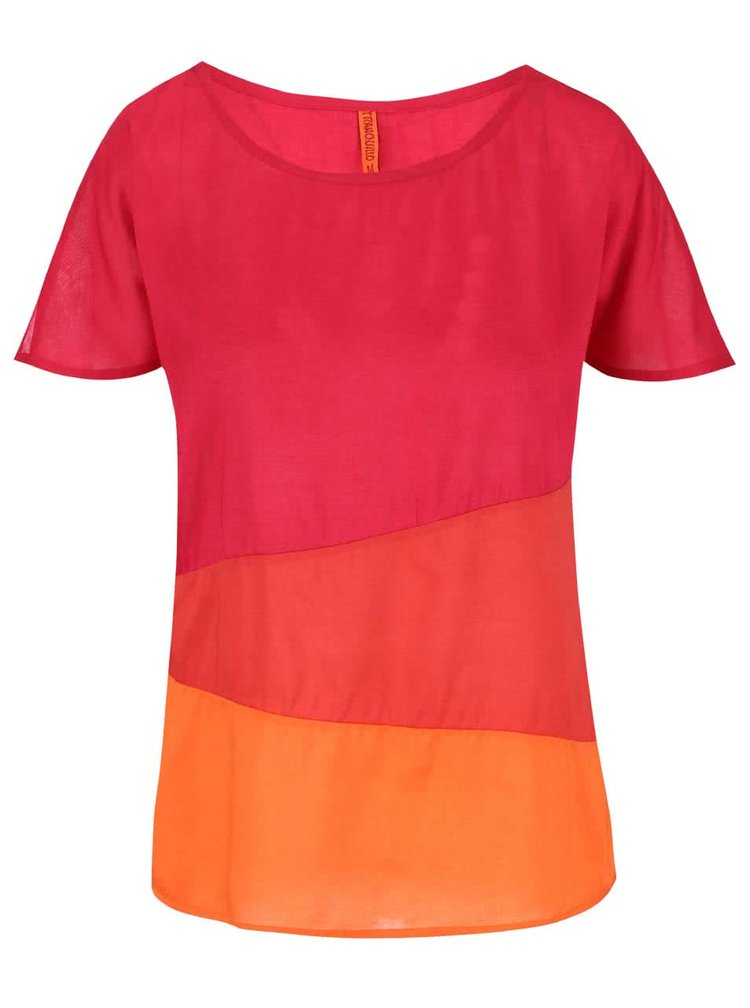 Tricou Tranquillo roșu Brasil Colour-Block